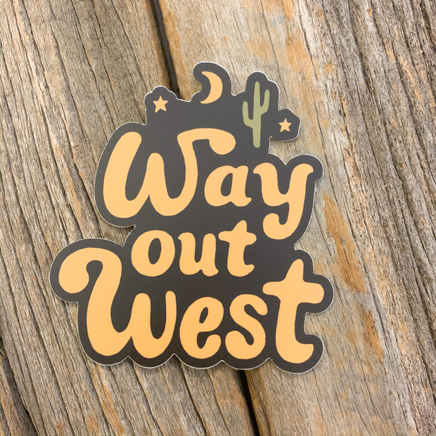 The Way Out West Sticker