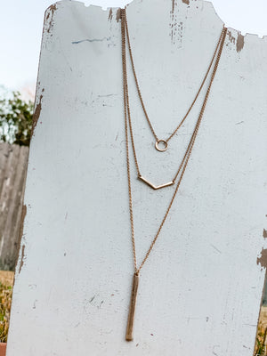 The Gemma Necklace: Rose Gold