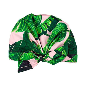 Palm Leaf Shower Cap
