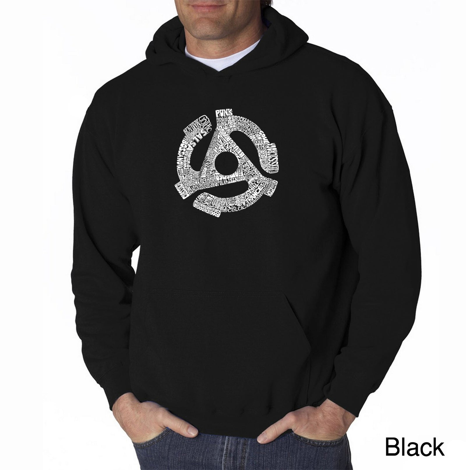 Men's Hooded Sweatshirt - Record Adapter