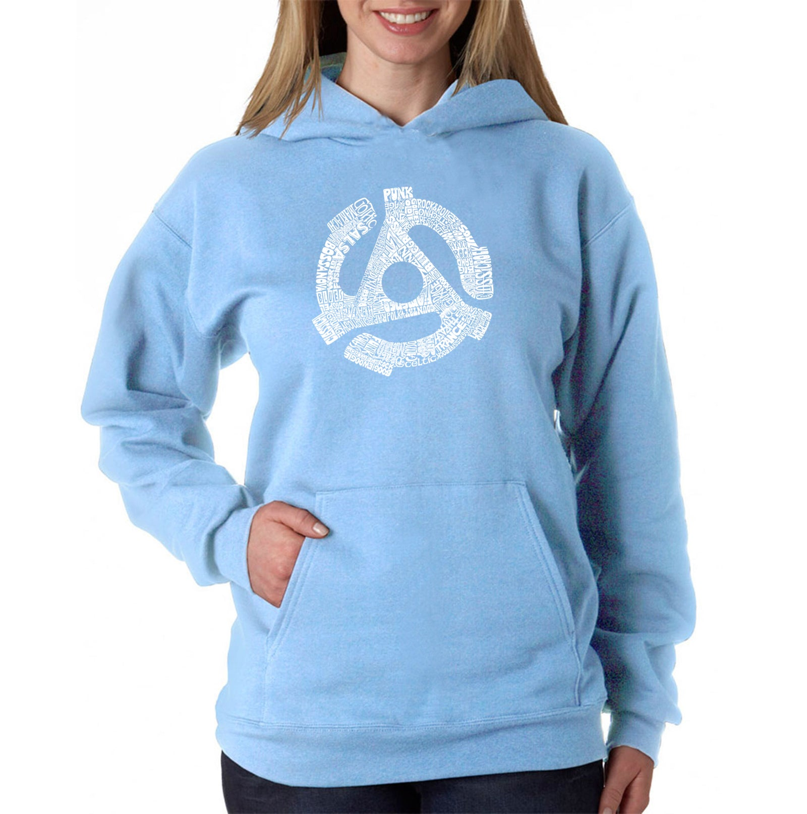 Women's Hooded Sweatshirt -Record Adapter