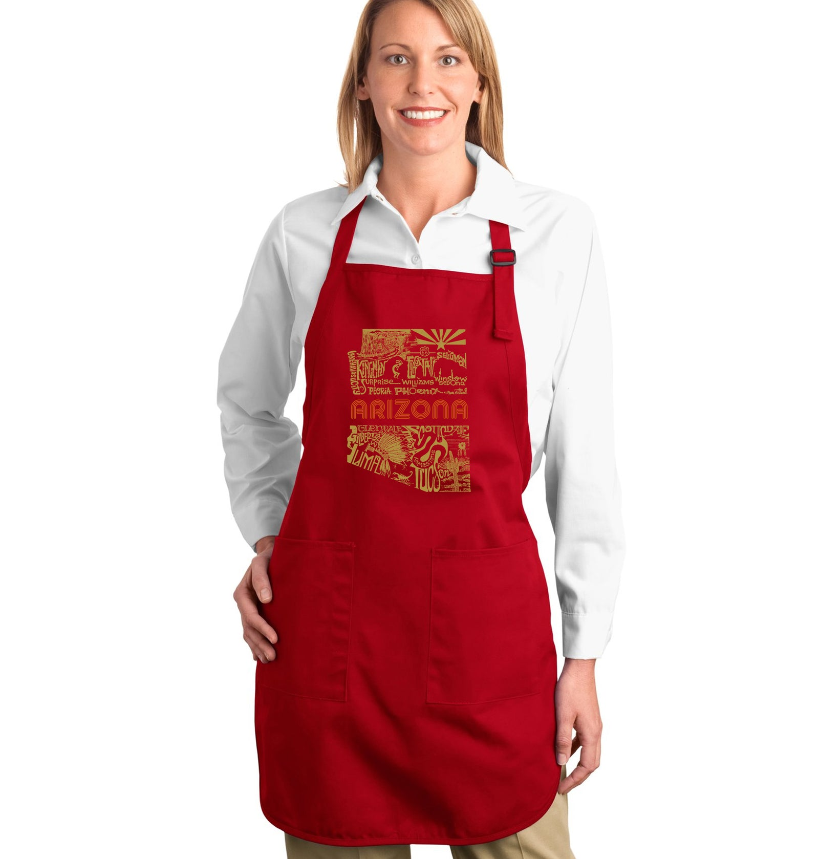 LA Pop Art Full Length Word Art Apron - Az Pics