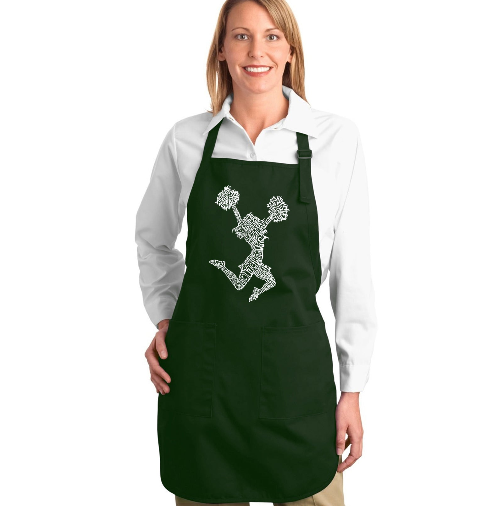 LA Pop Art Full Length Word Art Apron - Cheer