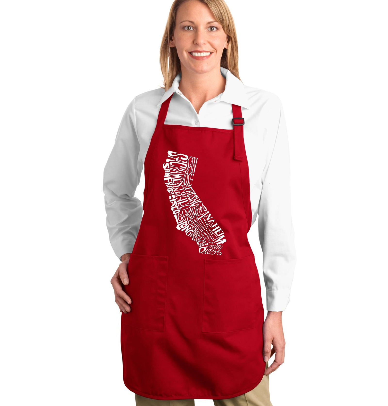 Los Angeles Pop Art Full Length Apron - California State