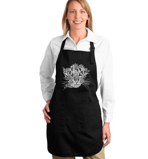 Los Angeles Pop Art Full Length Apron - Cat Face
