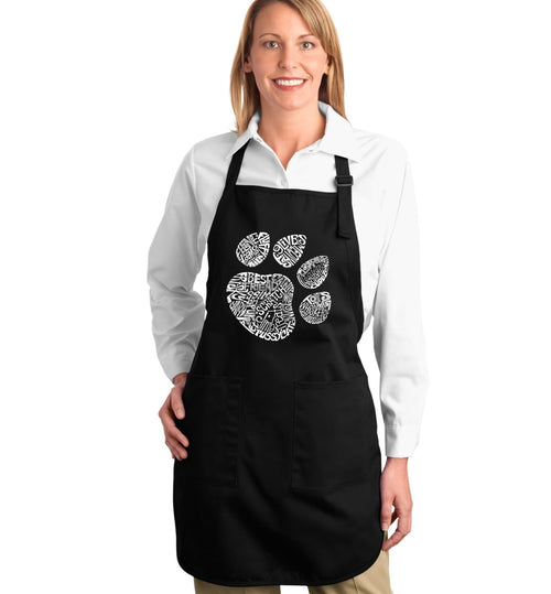 Los Angeles Pop Art Full Length Apron - Cat Paw