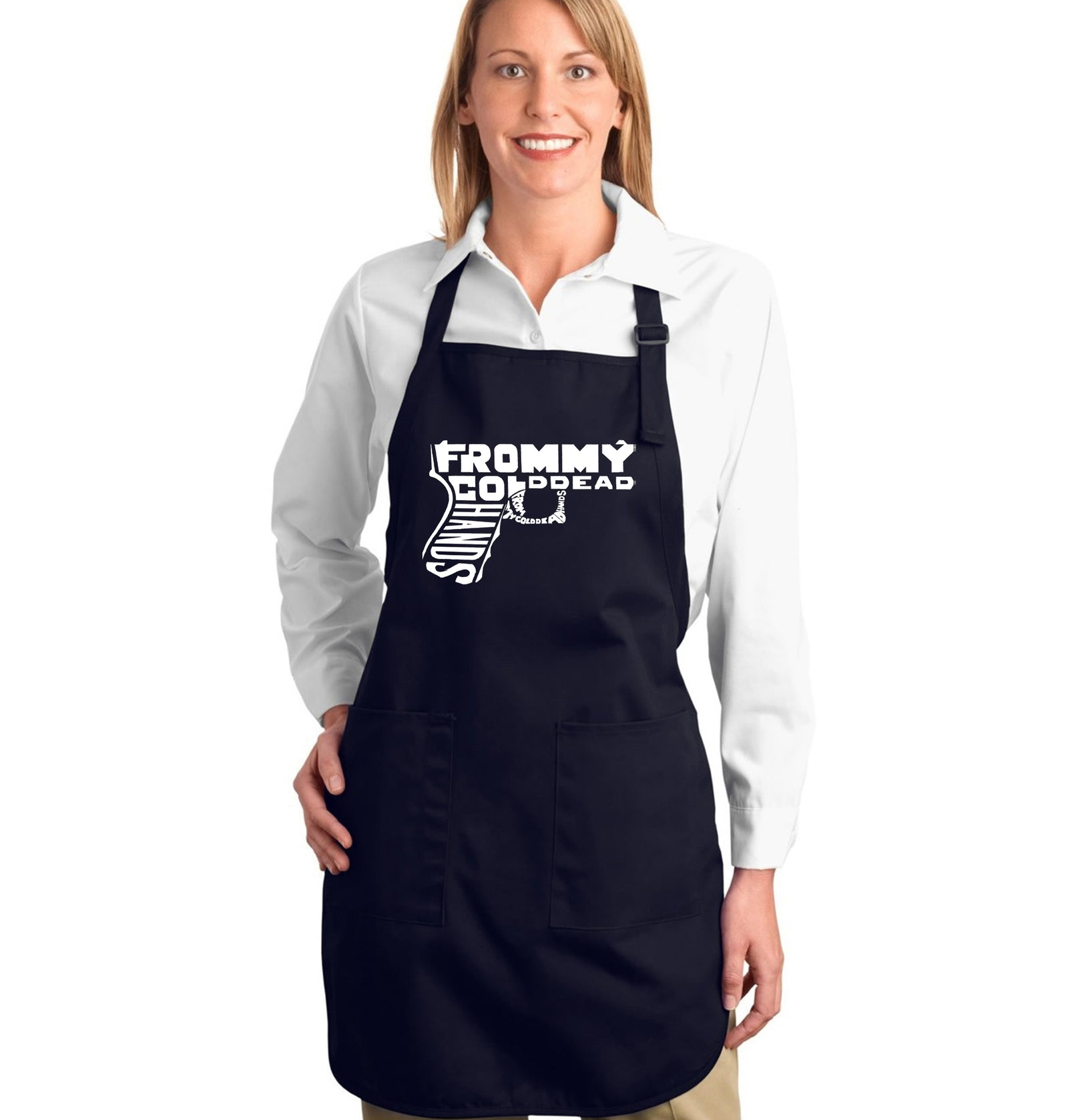 Los Angeles Pop Art Full Length Apron - Out of My cold Dead Hands Gun