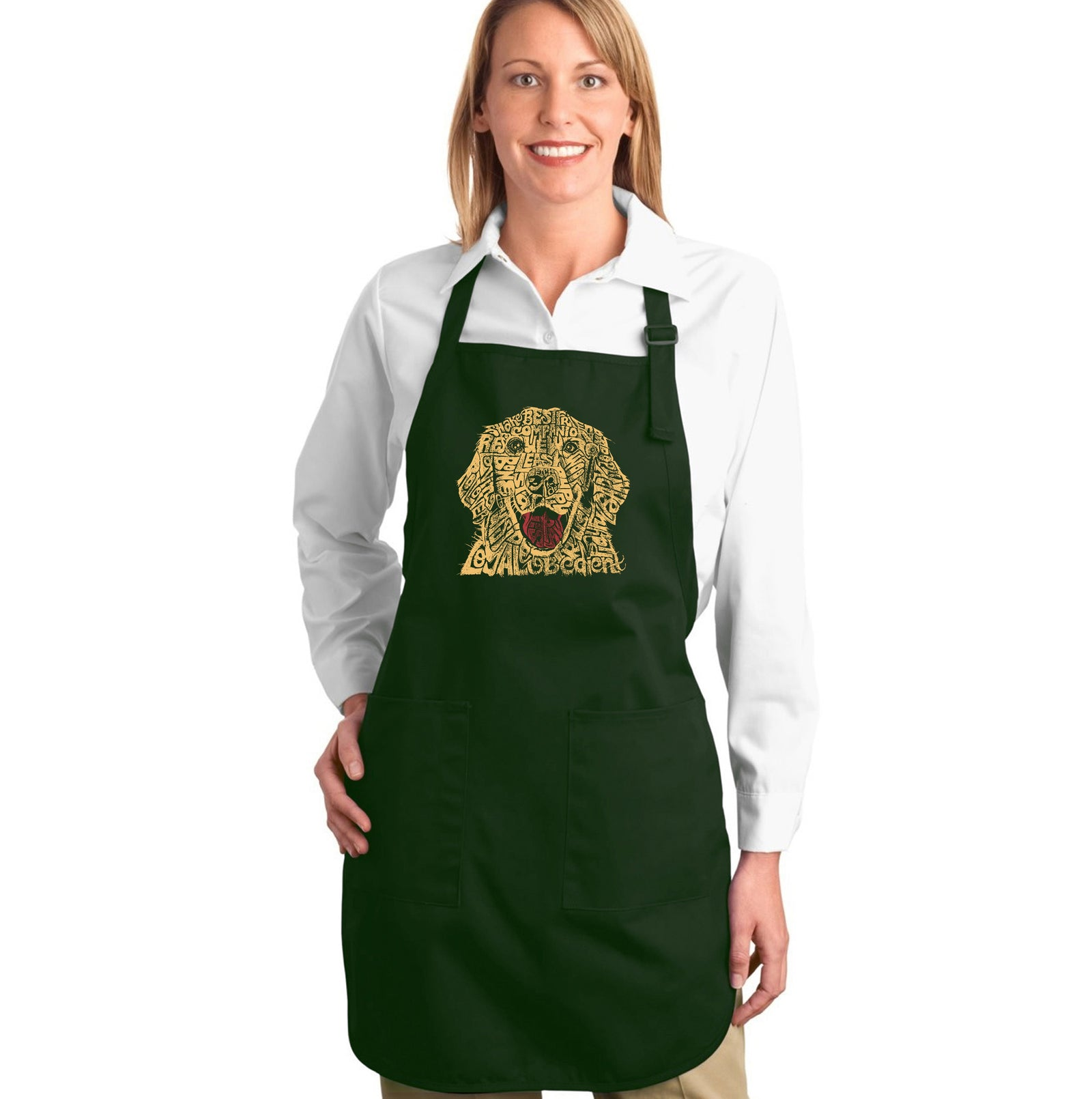 LA Pop Art Full Length Word Art Apron - Dog