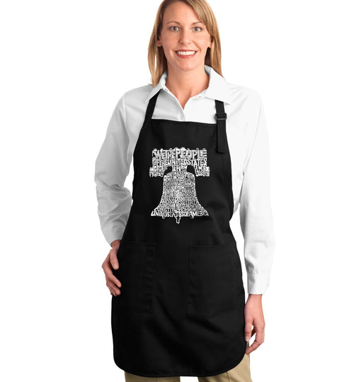 Los Angeles Pop Art Full Length Apron - Liberty Bell