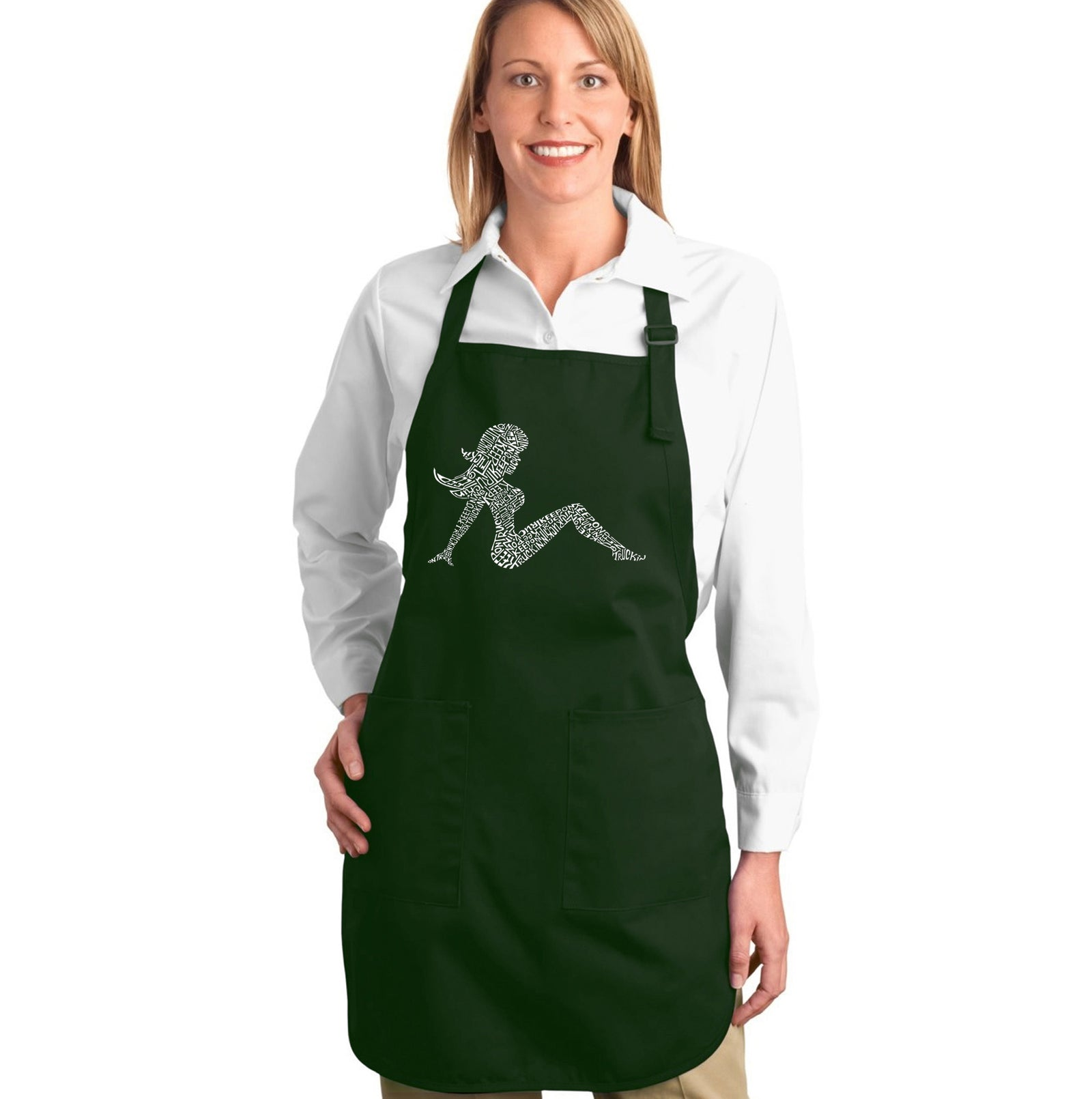 Los Angeles Pop Art Full Length Apron - Mudflap Girl - Keep on Truckin
