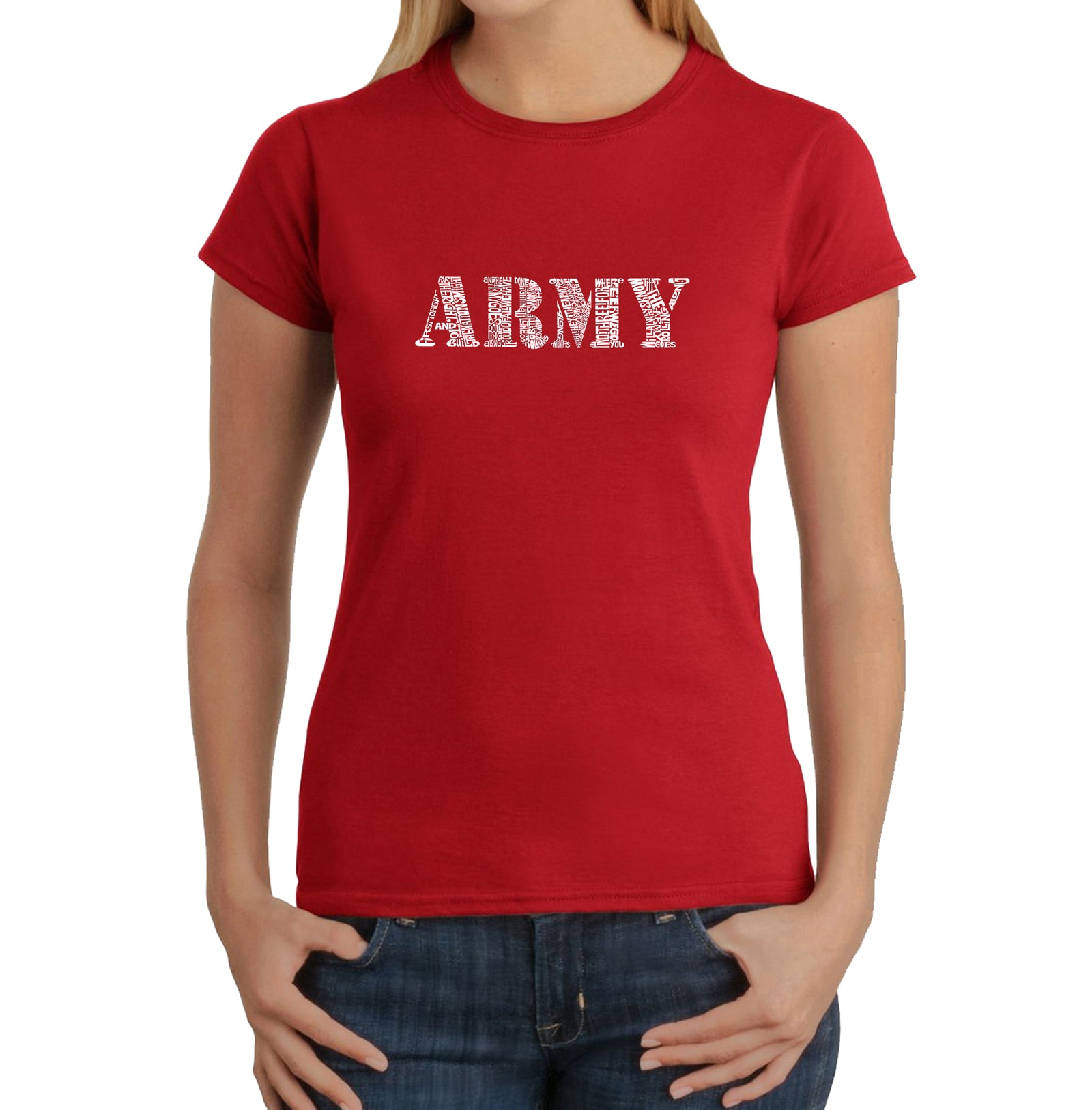 Women's T-Shirt - LYRICS TO THE ARMY SONG