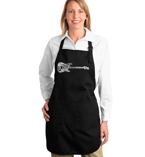 Los Angeles Pop Art Full Length Apron - Rock Guitar