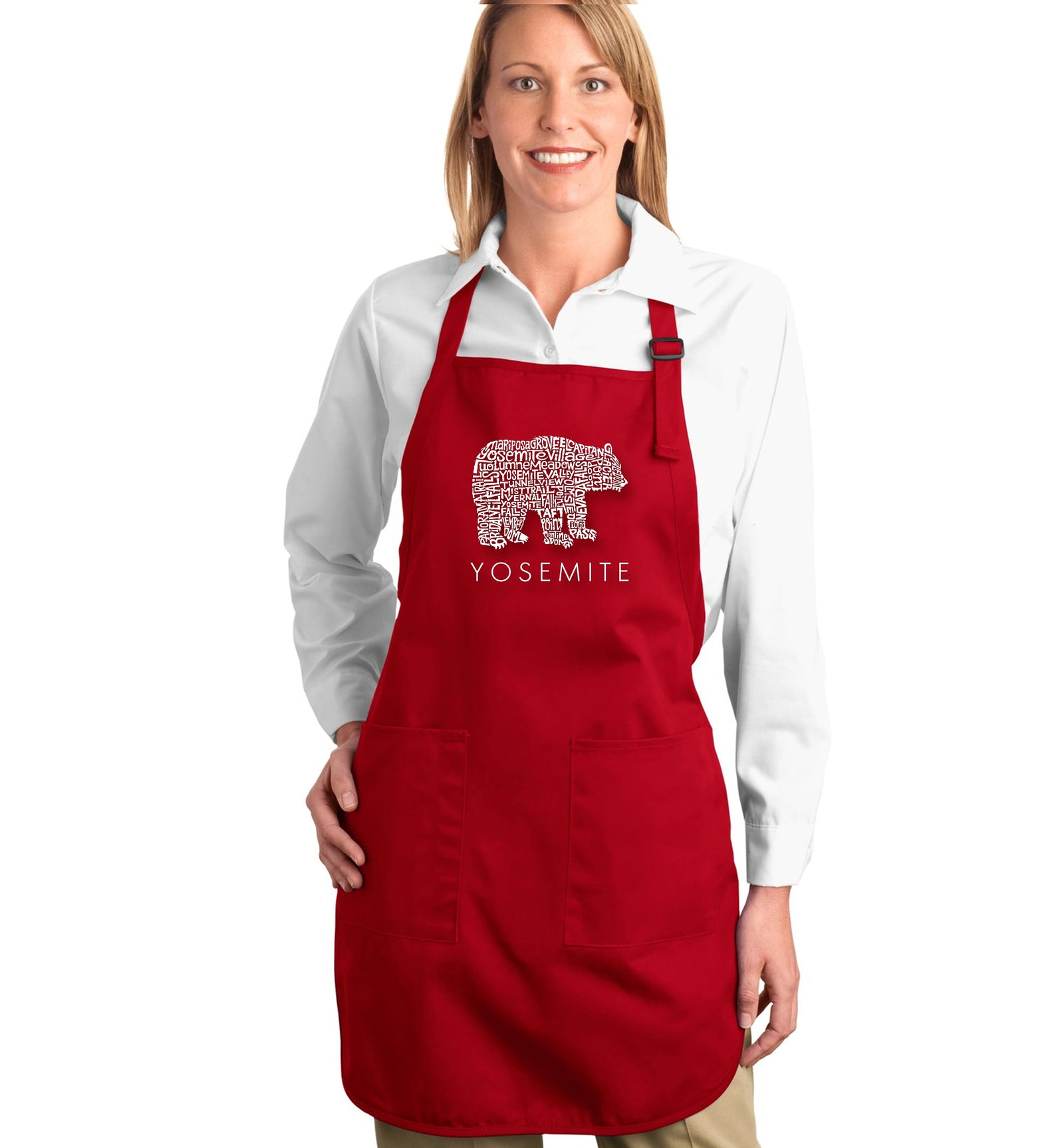 Full Length Word Art Apron - Yosemite Bear