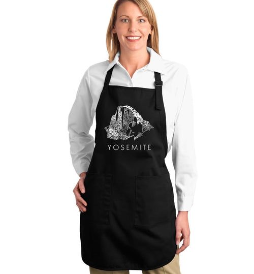 Los Angeles Pop Art Full Length Apron - Yosemite