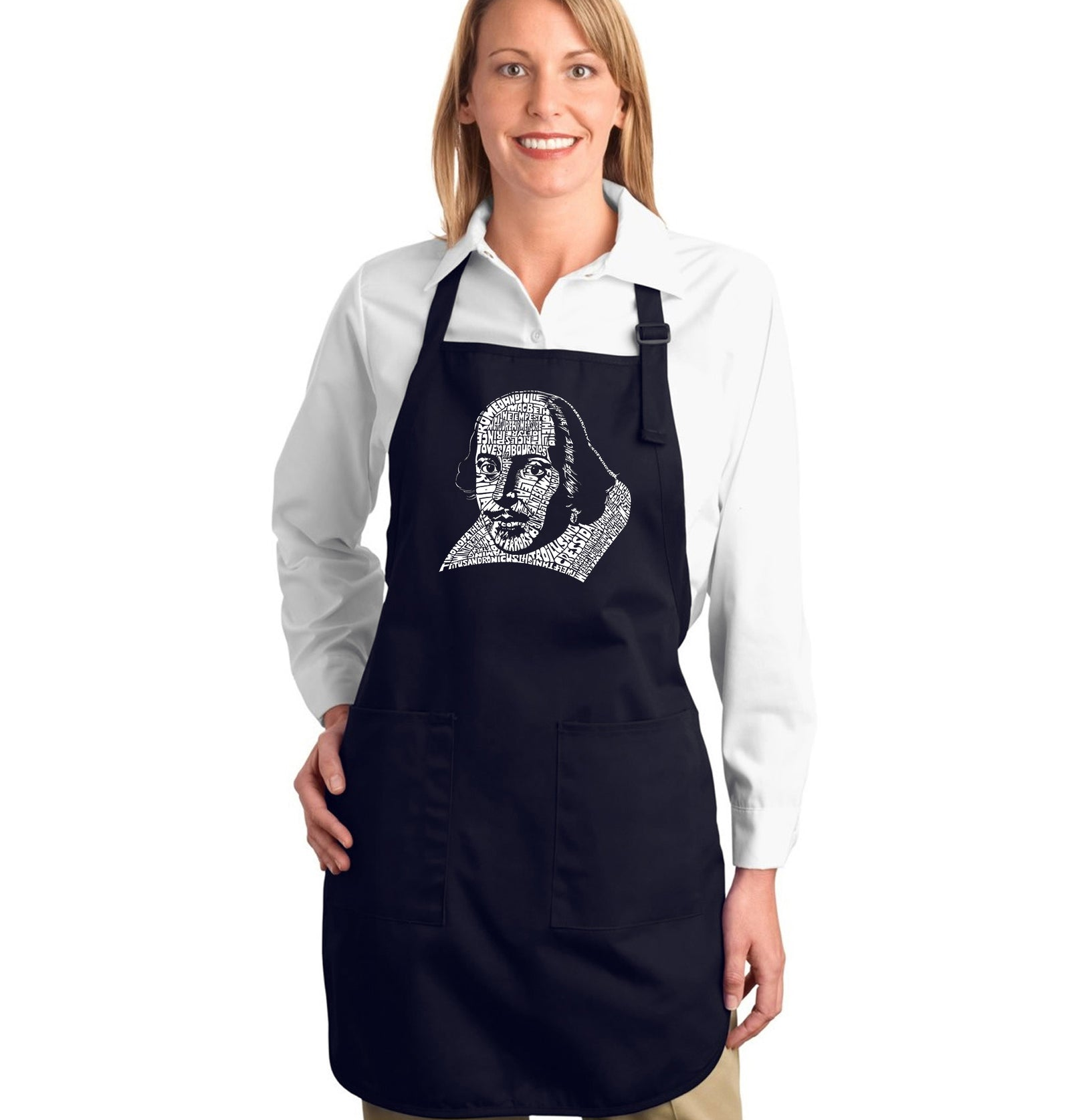 Full Length Apron - THE TITLES OF ALL OF WILLIAM SHAKESPEARE'S COMEDIES & TRAGEDIES