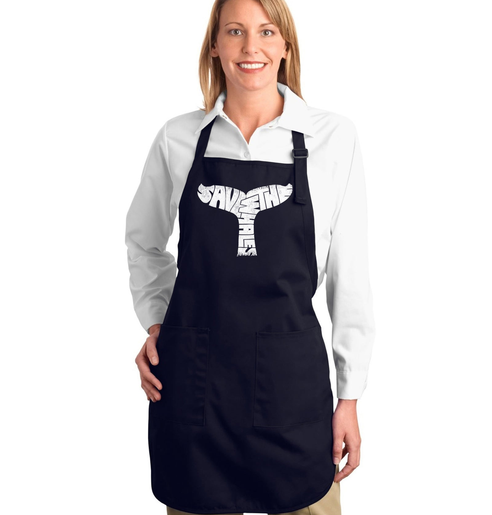 Full Length Apron - SAVE THE WHALES