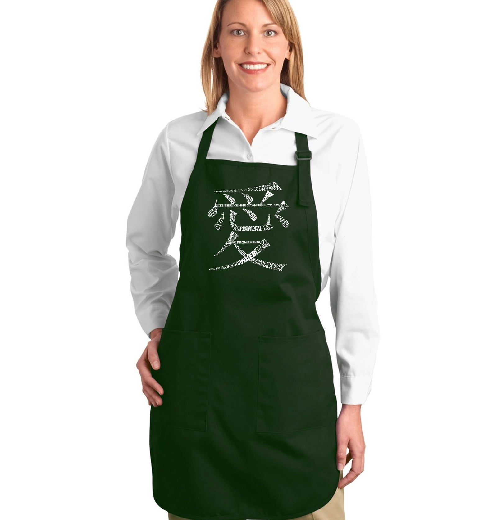 Full Length Apron - The Word Love in 44 Languages
