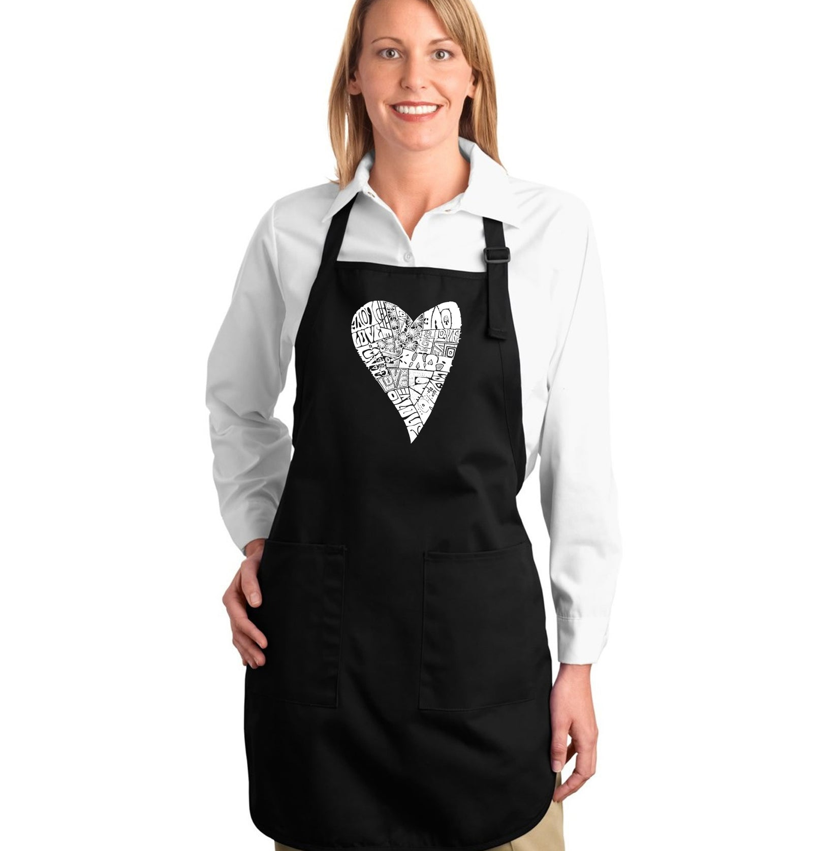 Full Length Apron - Lots of Love
