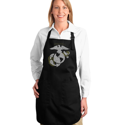 Full Length Apron - LYRICS TO THE MARINES HYMN