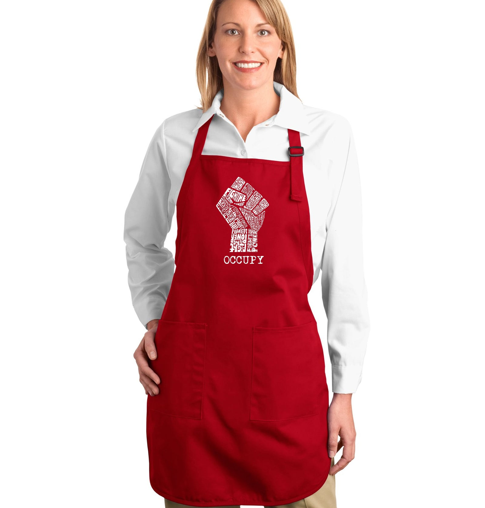 Full Length Apron - OCCUPY WALL STREET - FIGHT THE POWER
