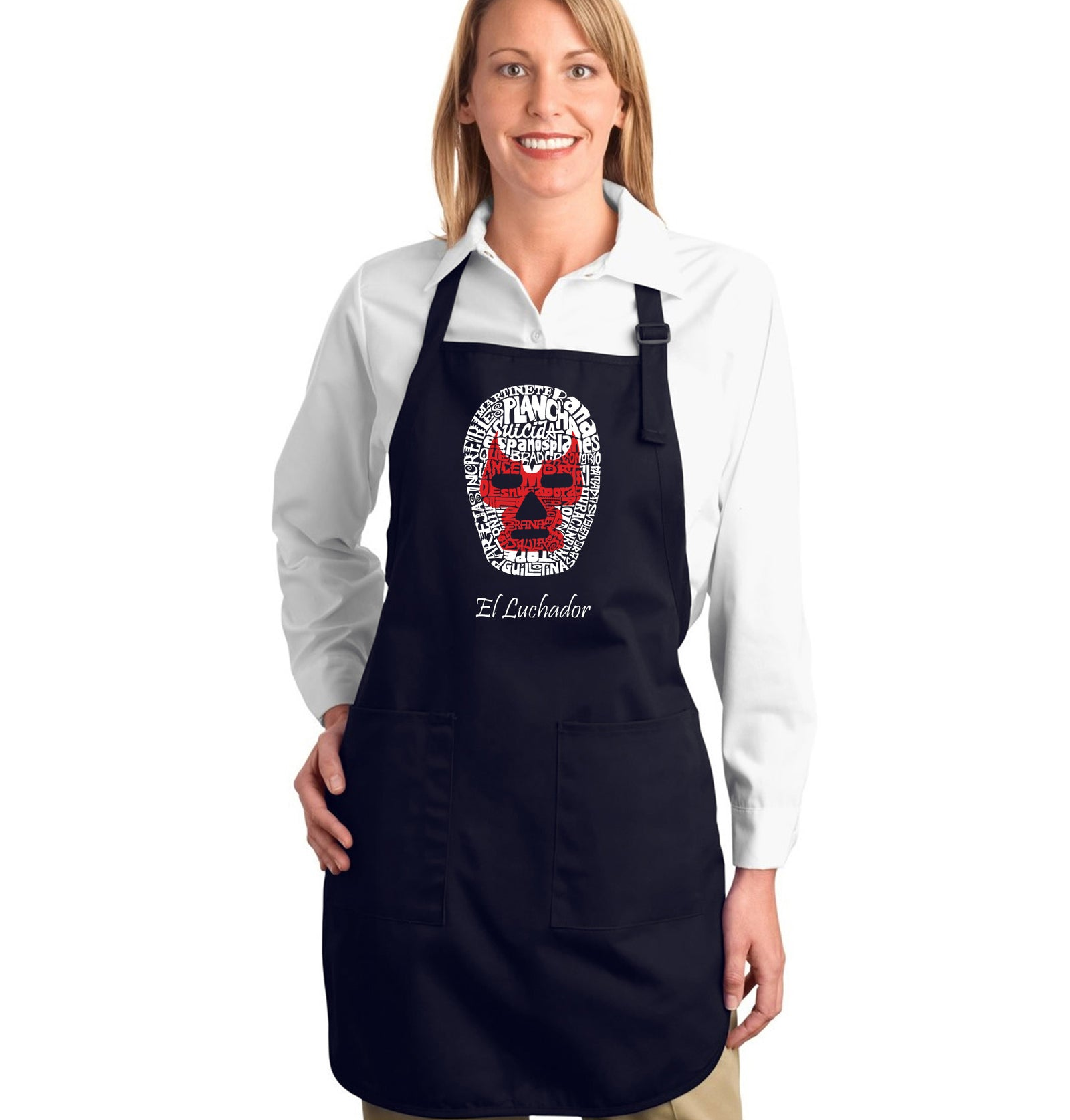 Full Length Apron - MEXICAN WRESTLING MASK