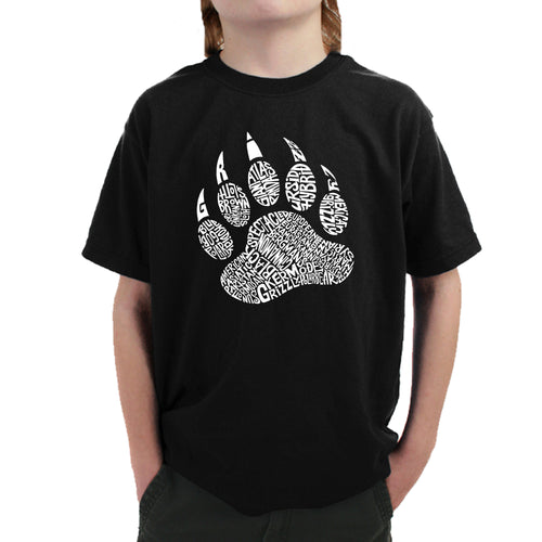Boy's Word Art T-shirt - Types of Bears