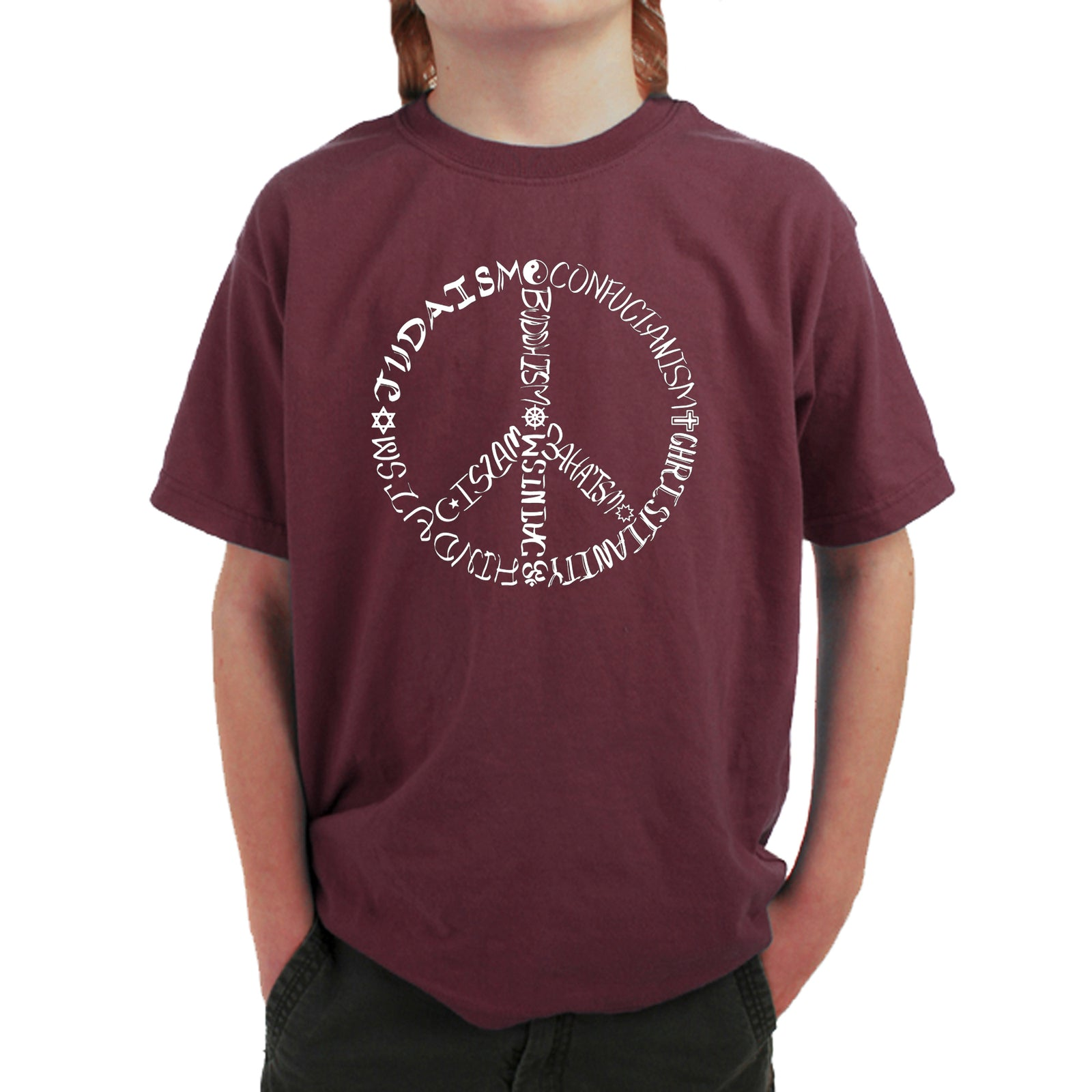 Boy's T-shirt - Different Faiths peace sign