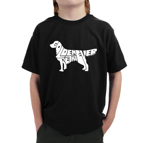 Boy's T-shirt - Golden Retreiver