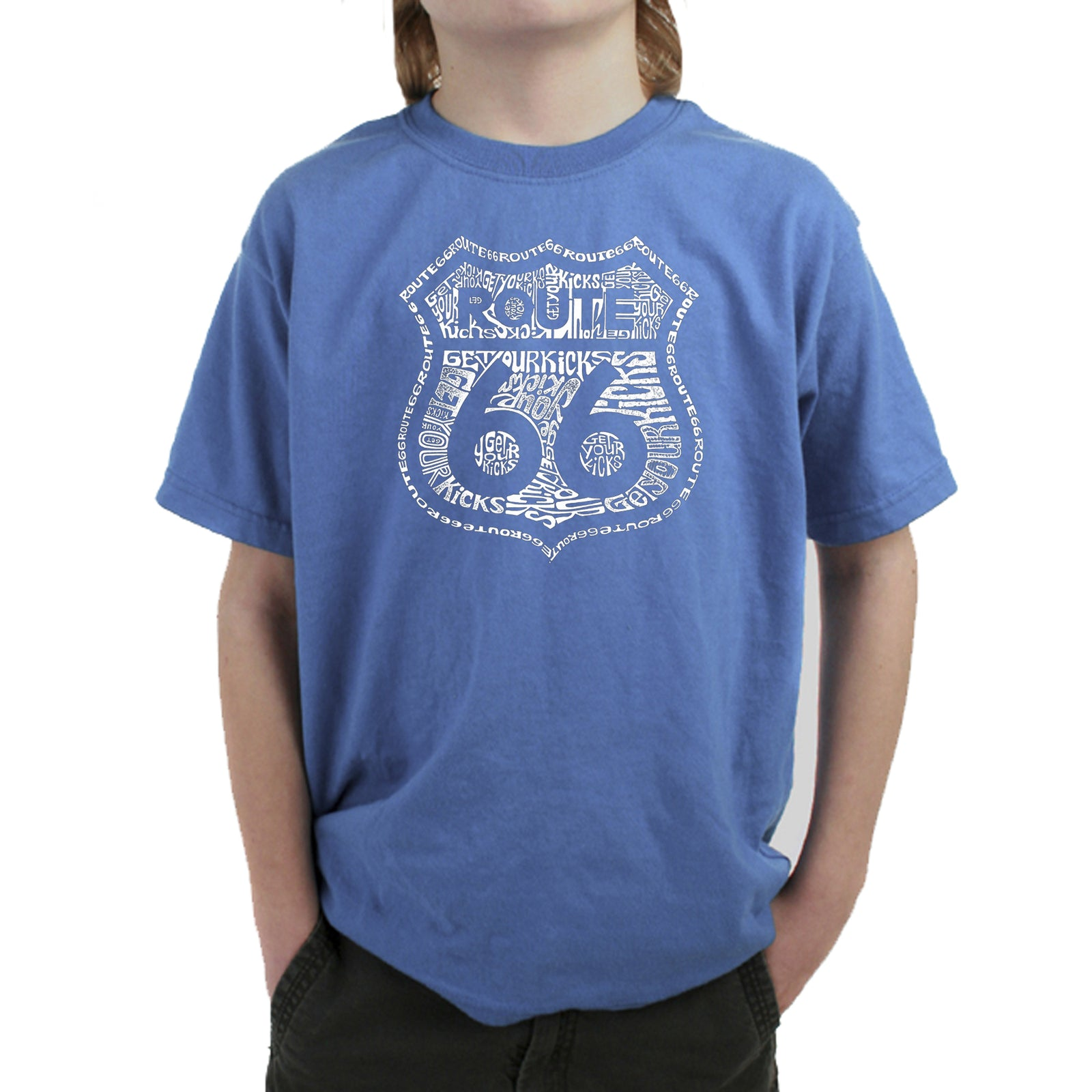 Boy's T-shirt - Get Your Kicks on Route 66