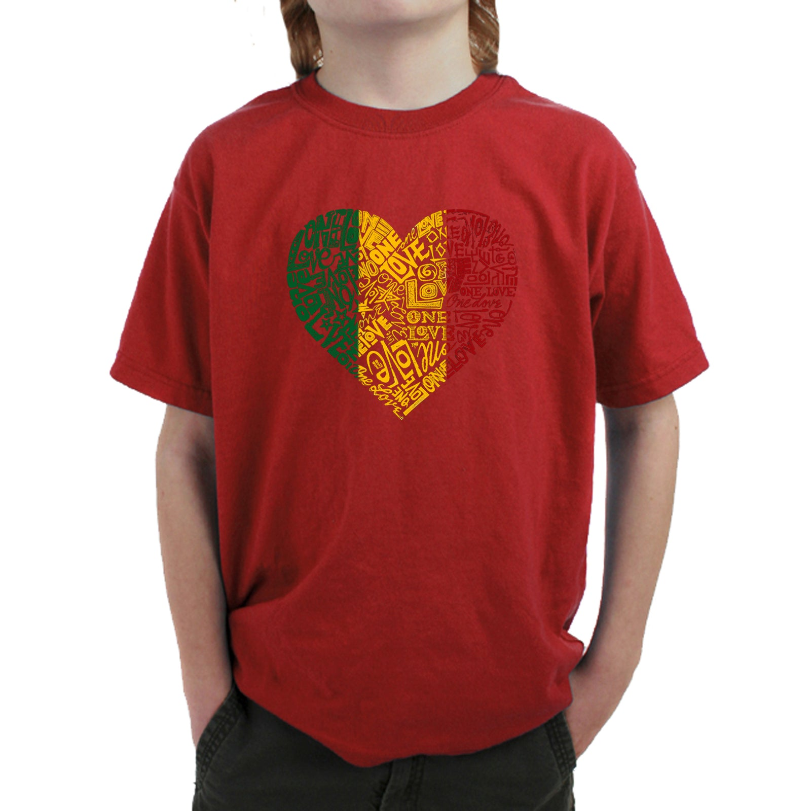Boy's T-shirt - One Love Heart