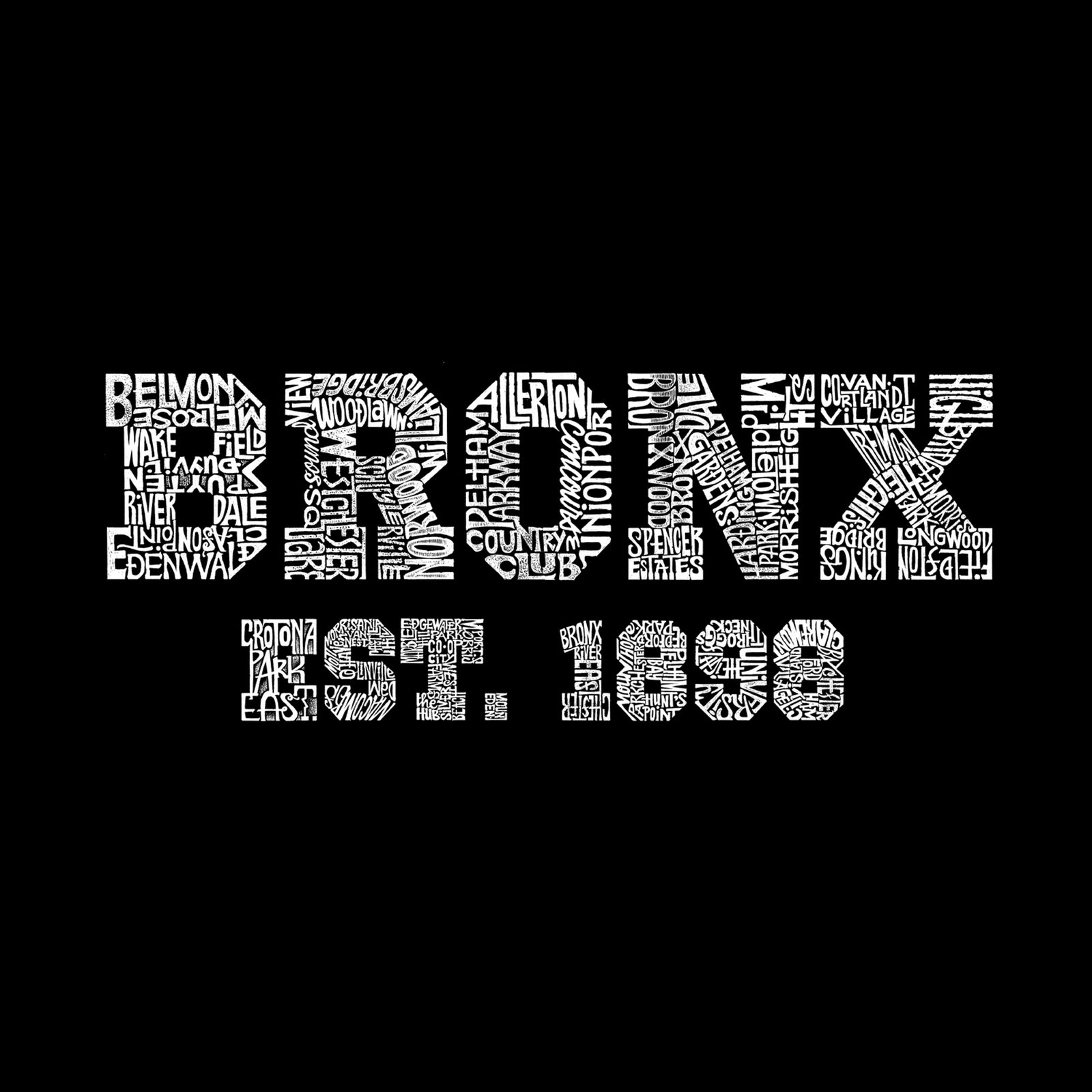Men's Sleeveless T-shirt - POPULAR NEIGHBORHOODS IN BRONX, NY