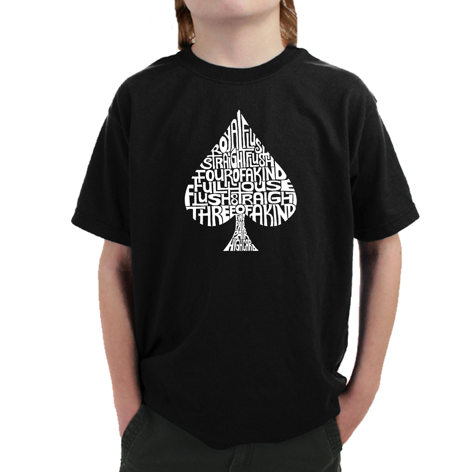 Boy's T-shirt - ORDER OF WINNING POKER HANDS