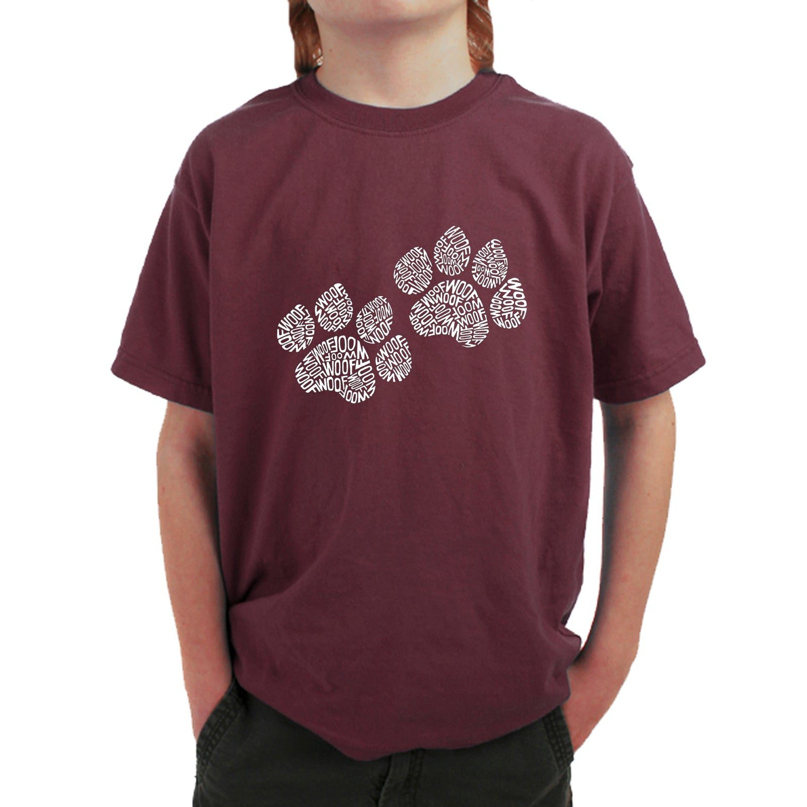 Boy's T-shirt - Woof Paw Prints