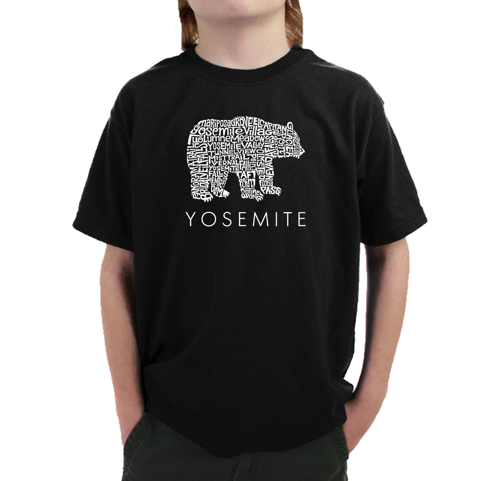 Boy's Word Art T-shirt - Yosemite Bear