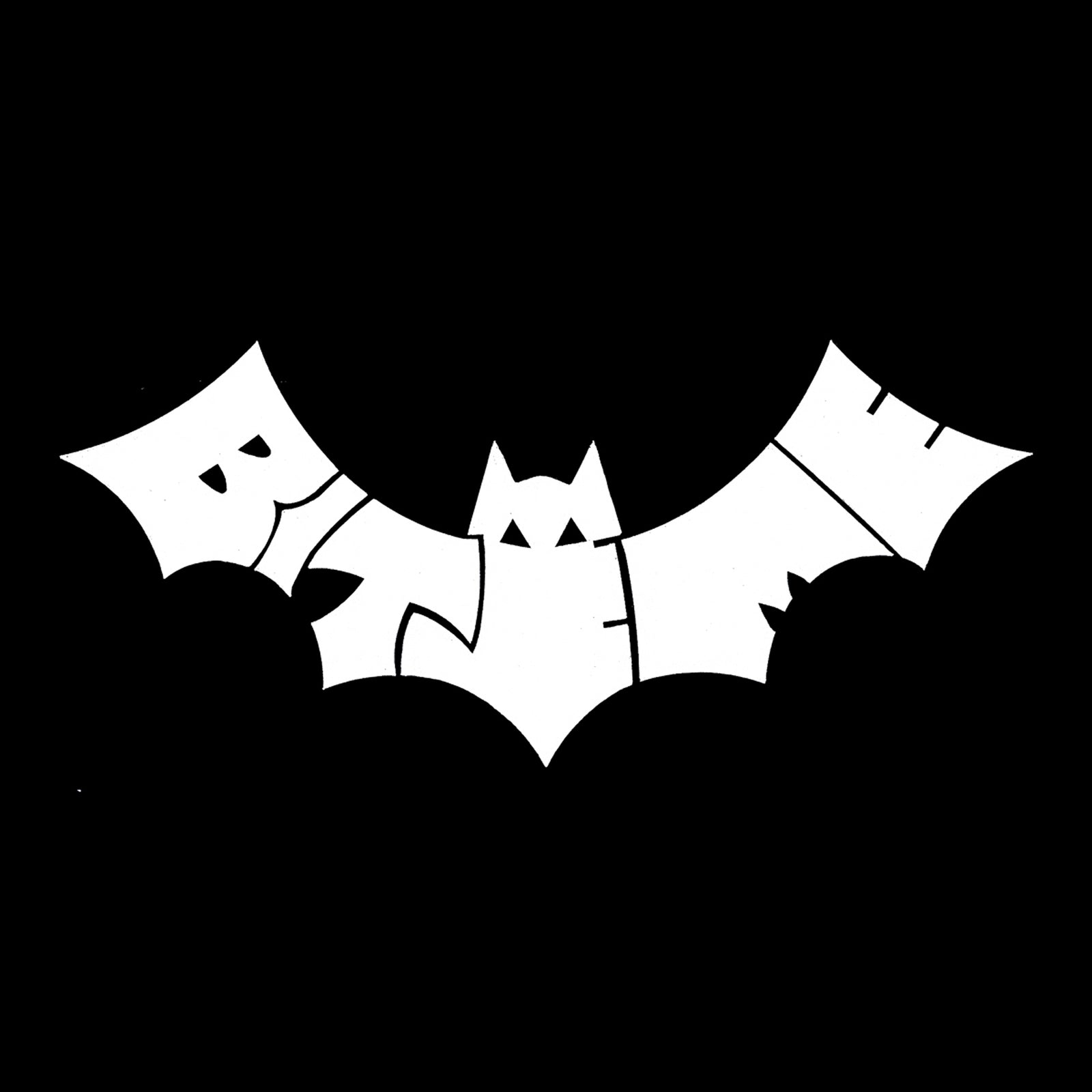 Mens Tank Top - Bat design created out of the words Bite Me