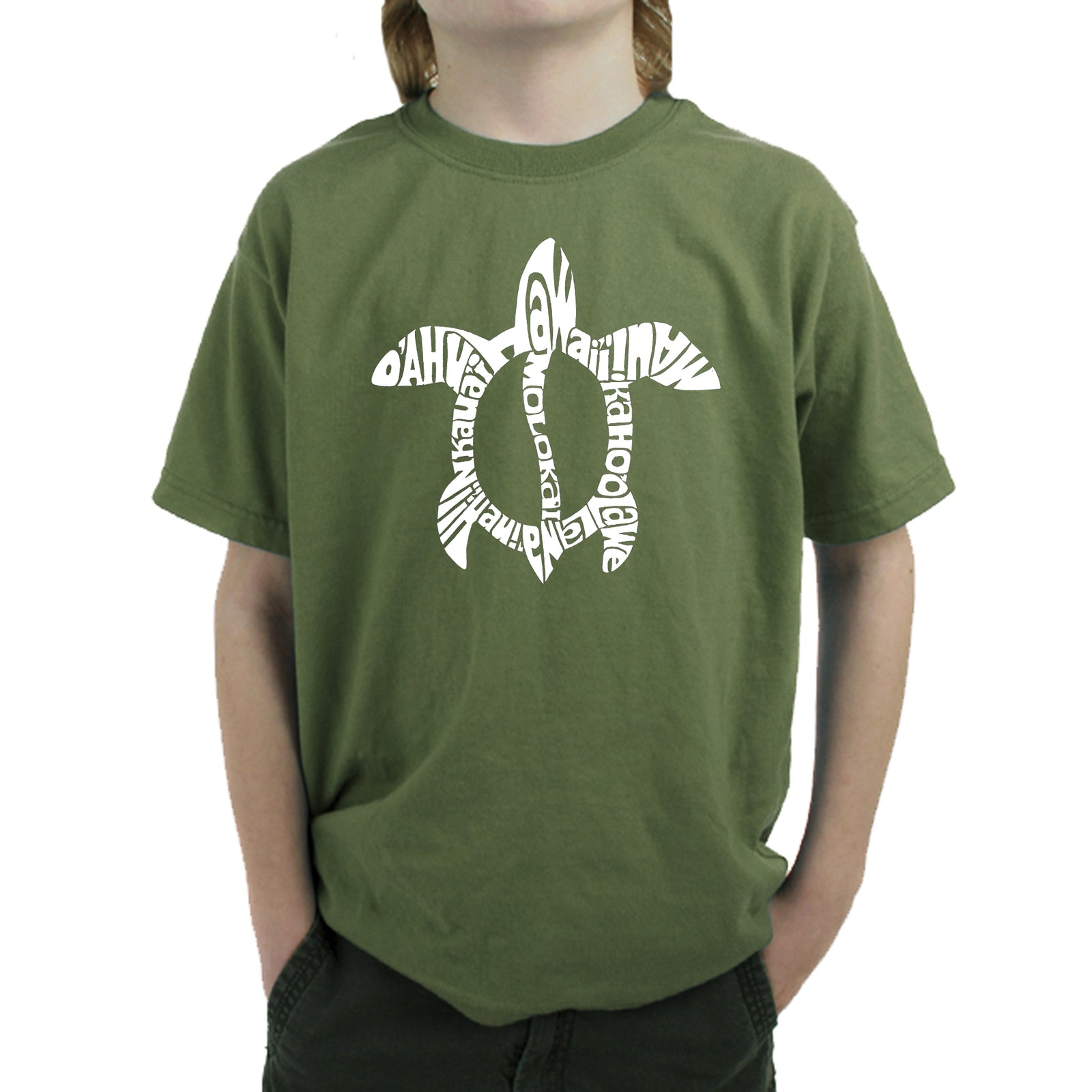 Boy's T-shirt - Honu Turtle - Hawaiian Islands