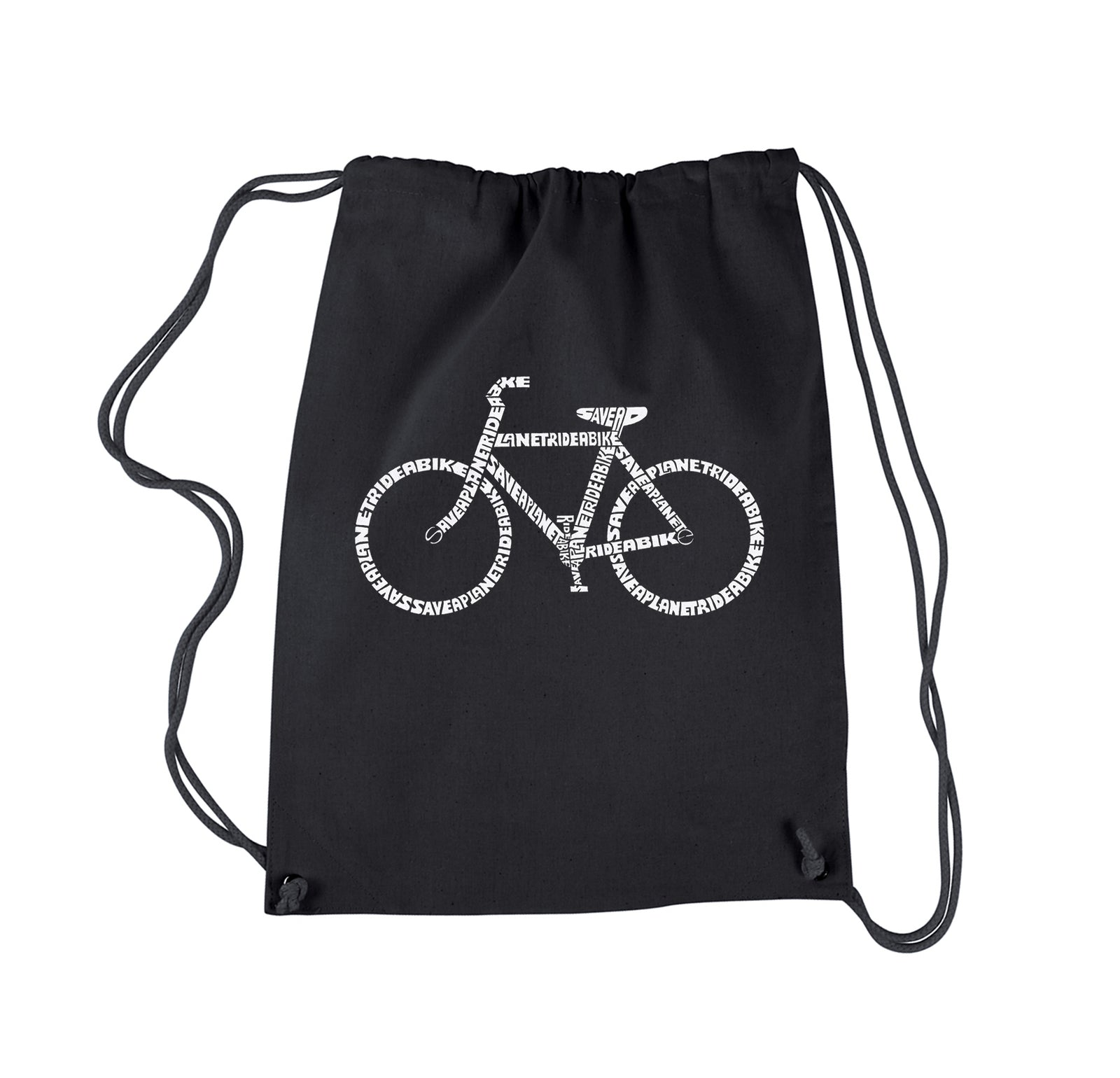 Drawstring Backpack - SAVE A PLANET, RIDE A BIKE
