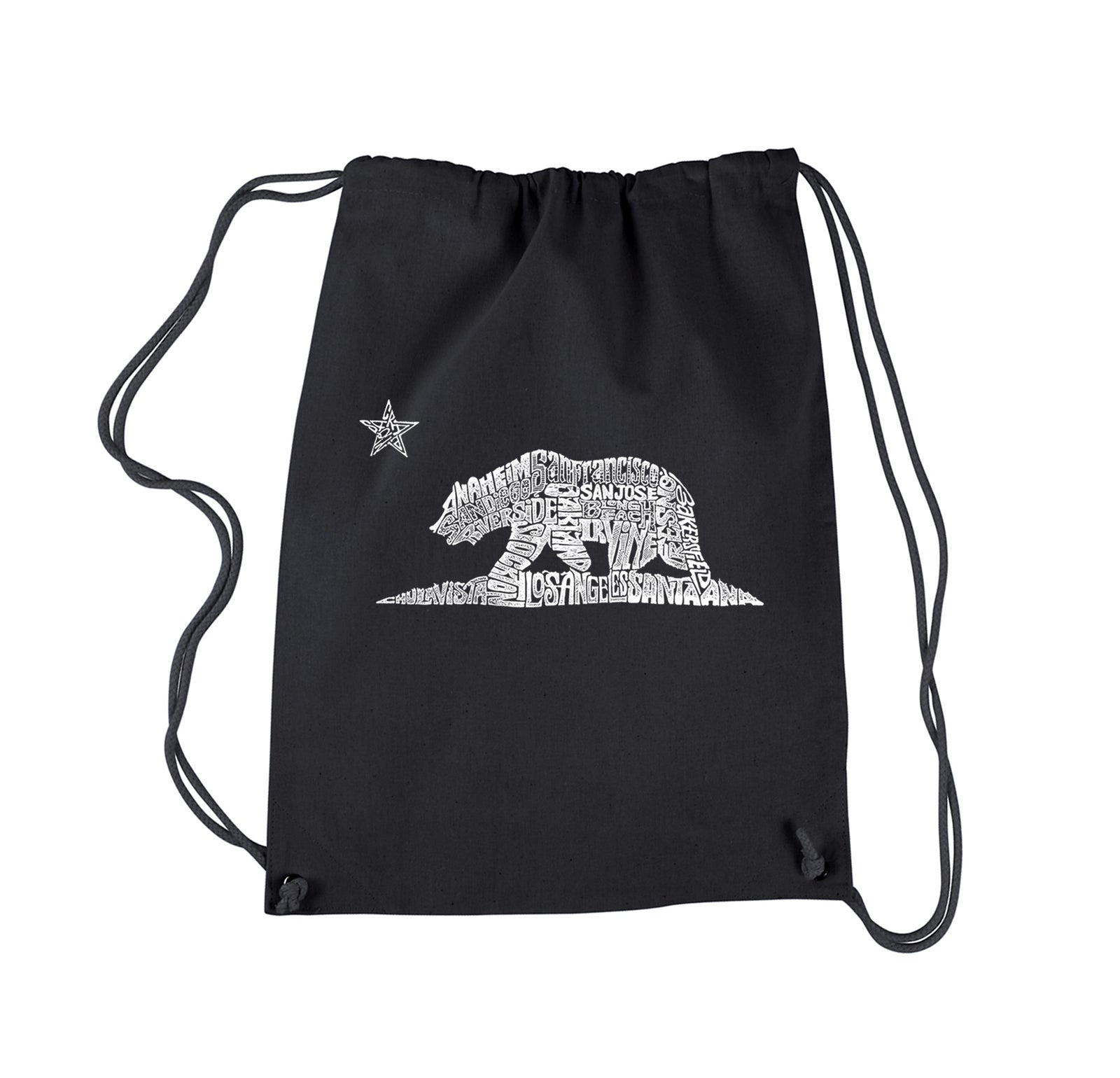 Drawstring Backpack - California Bear