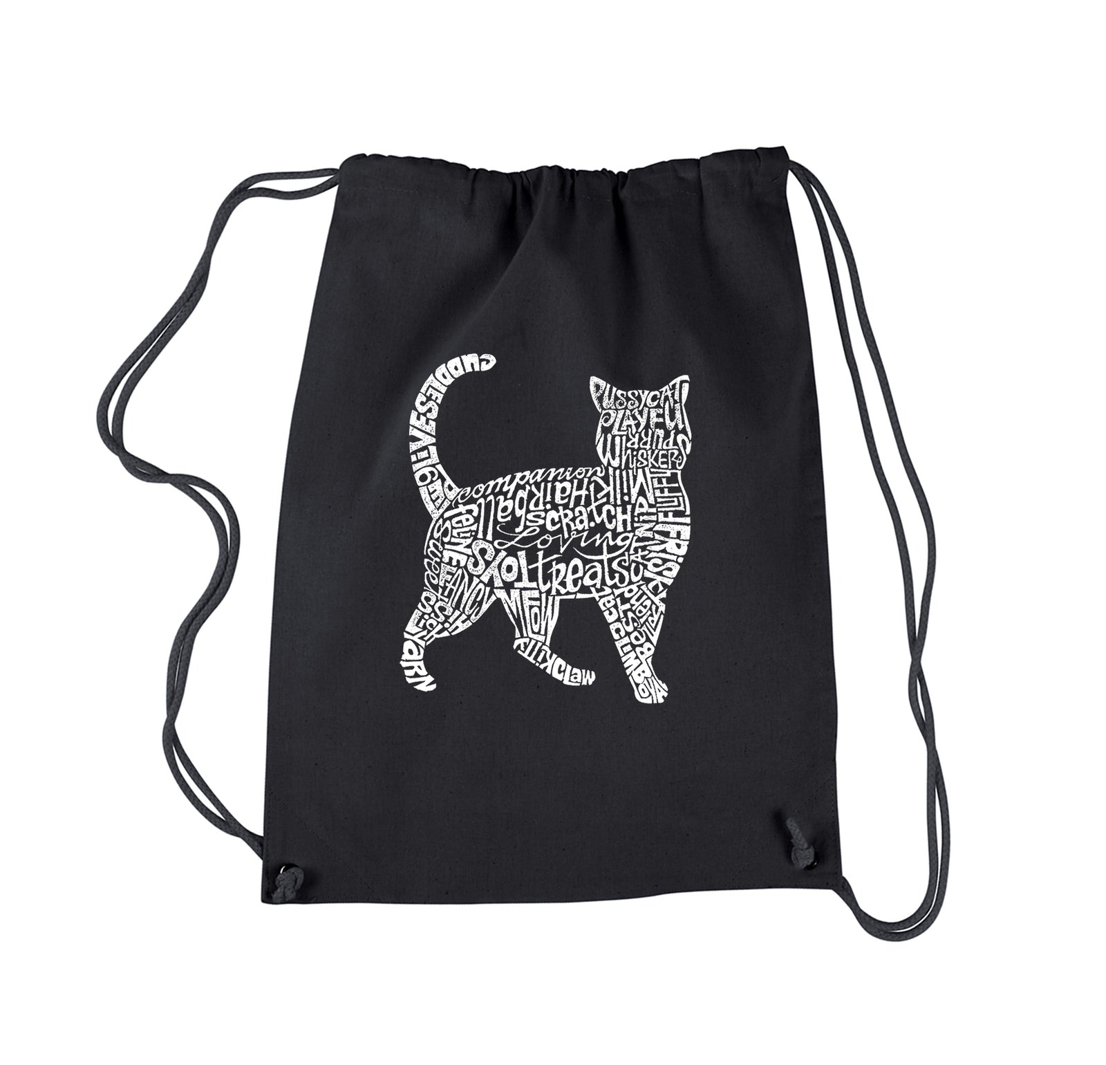 Drawstring Backpack - Cat
