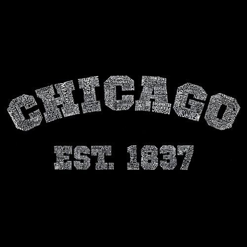 Mens Tank Top - Created using the names of Chicago Neighborhoods