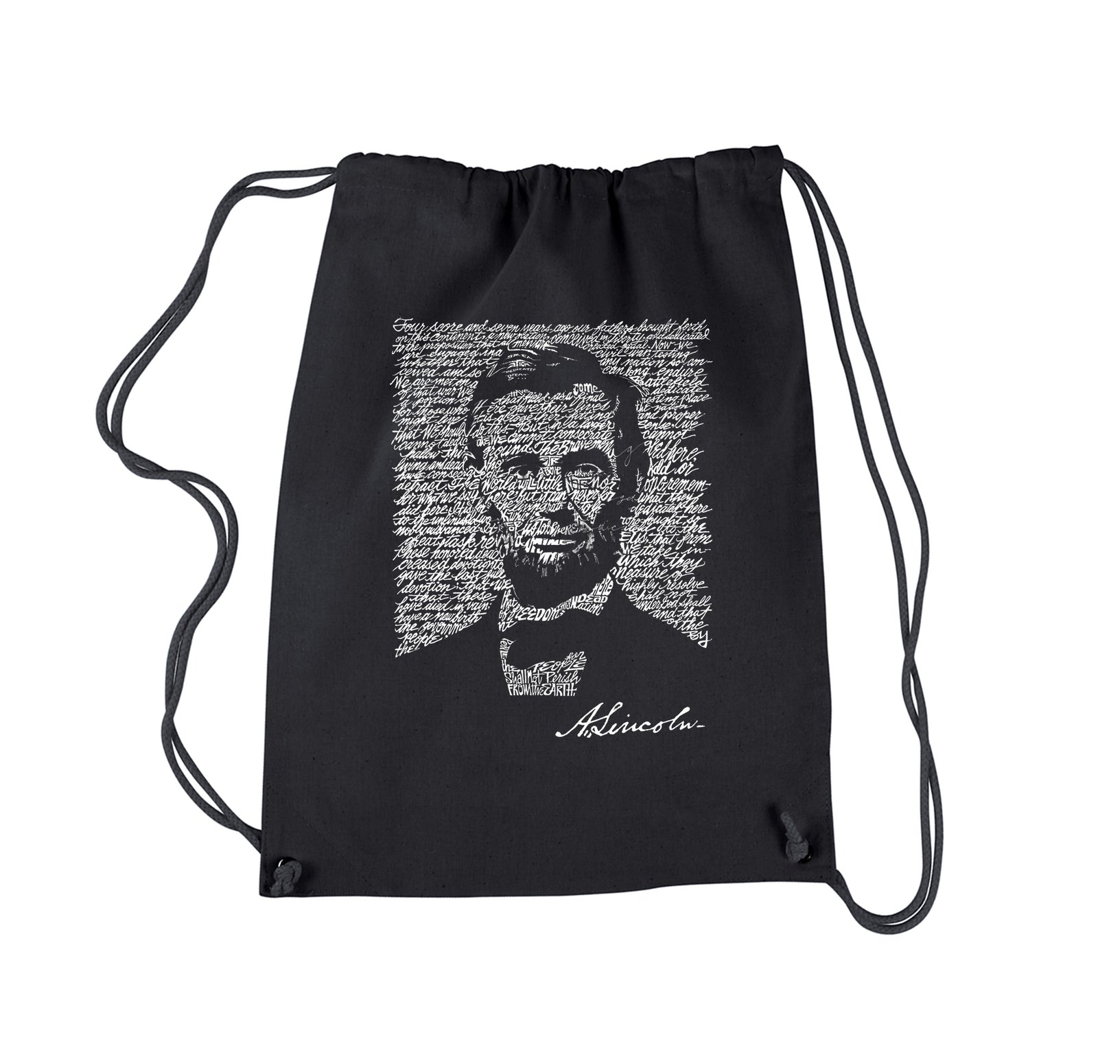 Drawstring Backpack - ABRAHAM LINCOLN - GETTYSBURG ADDRESS