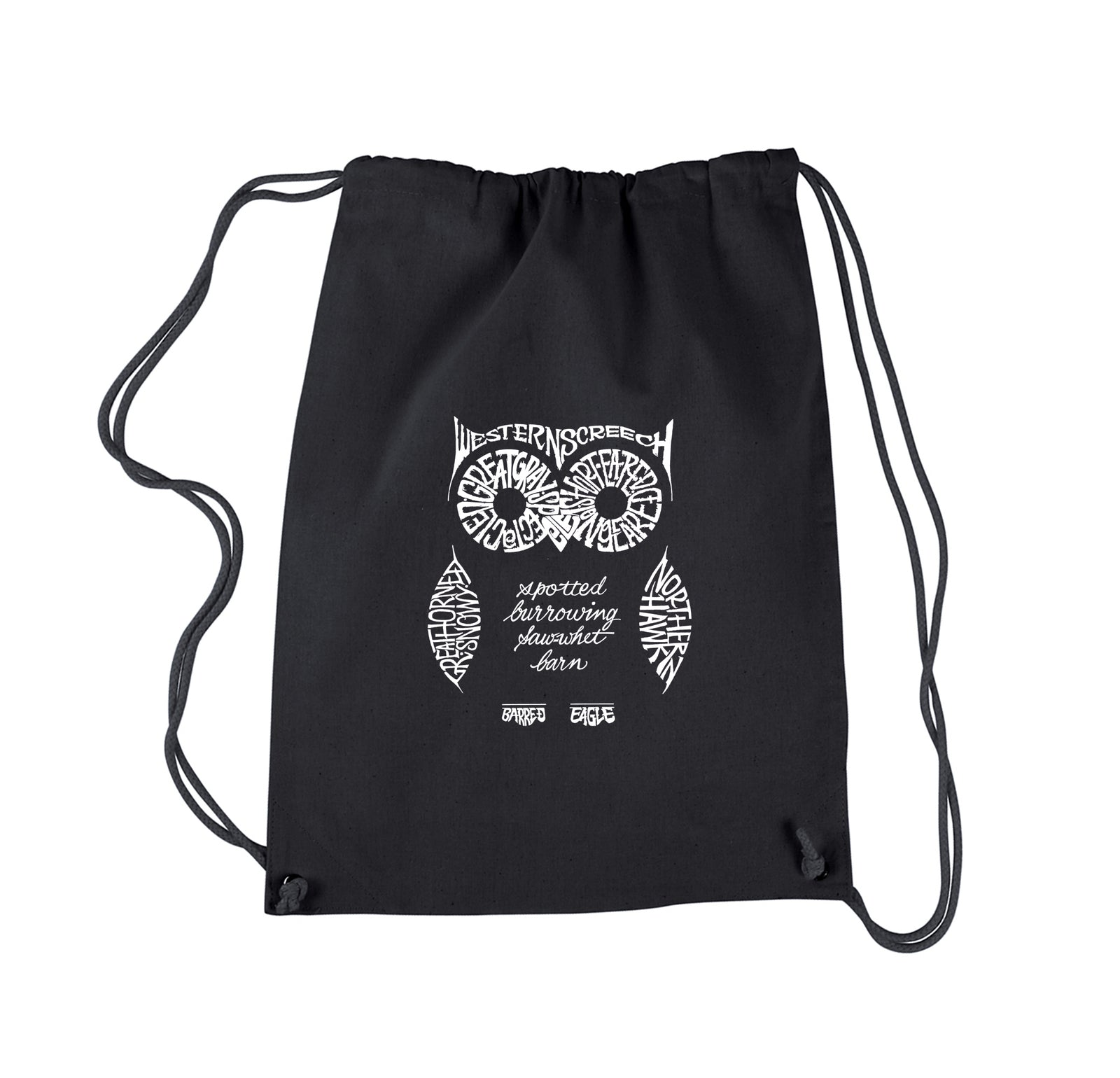 Los Angeles Pop Art Drawstring Backpack - Owl