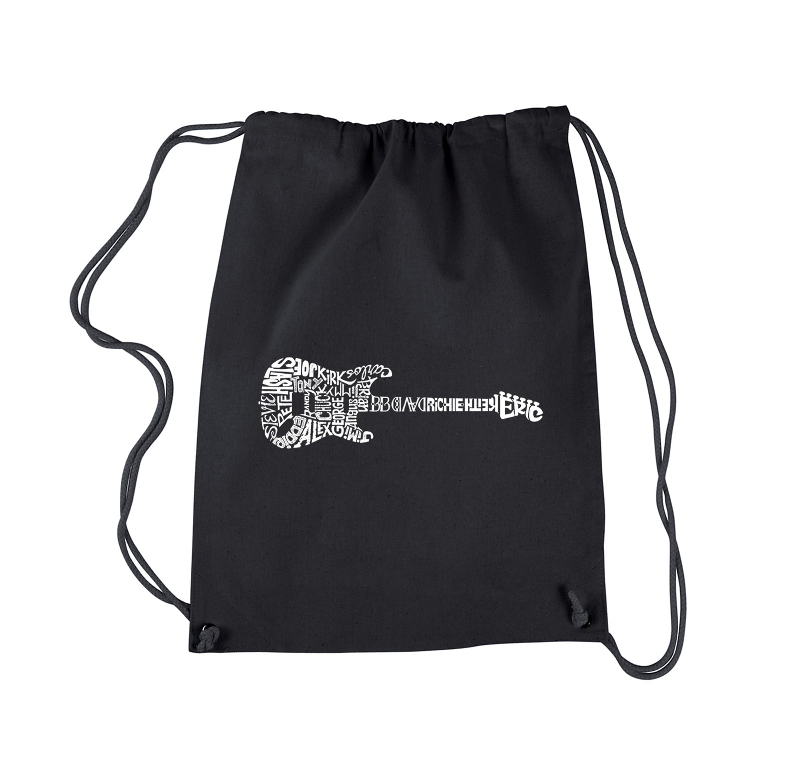 Los Angeles Pop Art Drawstring Backpack - Rock Guitar