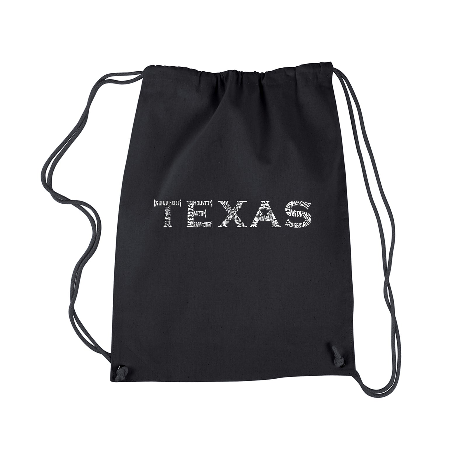 Drawstring Backpack - THE GREAT CITIES OF TEXAS