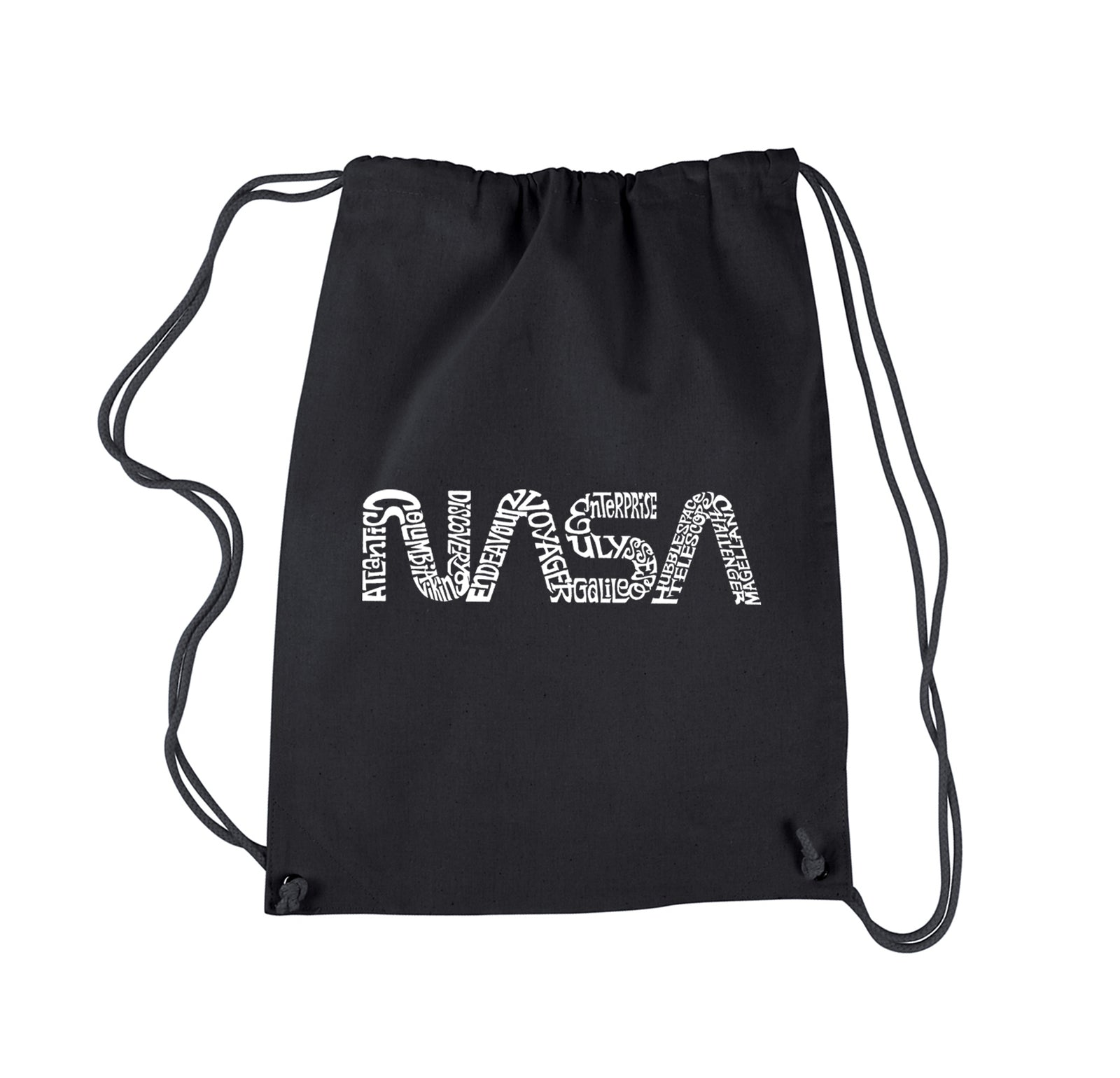 Word Art Drawstring Backpack - Worm Nasa