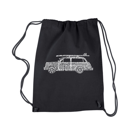 Drawstring Backpack - KEEP ON TRUCKIN'