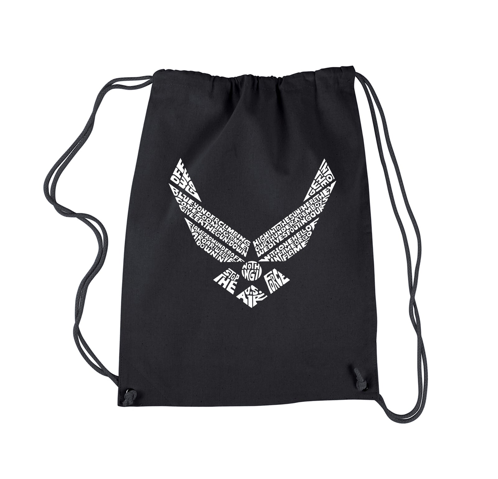 Drawstring Backpack - LYRICS TO THE AIR FORCE SONG
