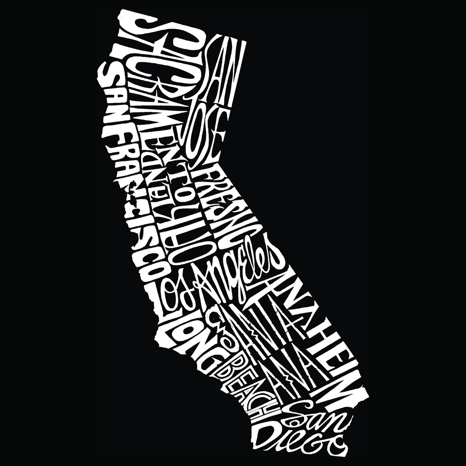 Men's Premium Blend Word Art T-shirt - California State