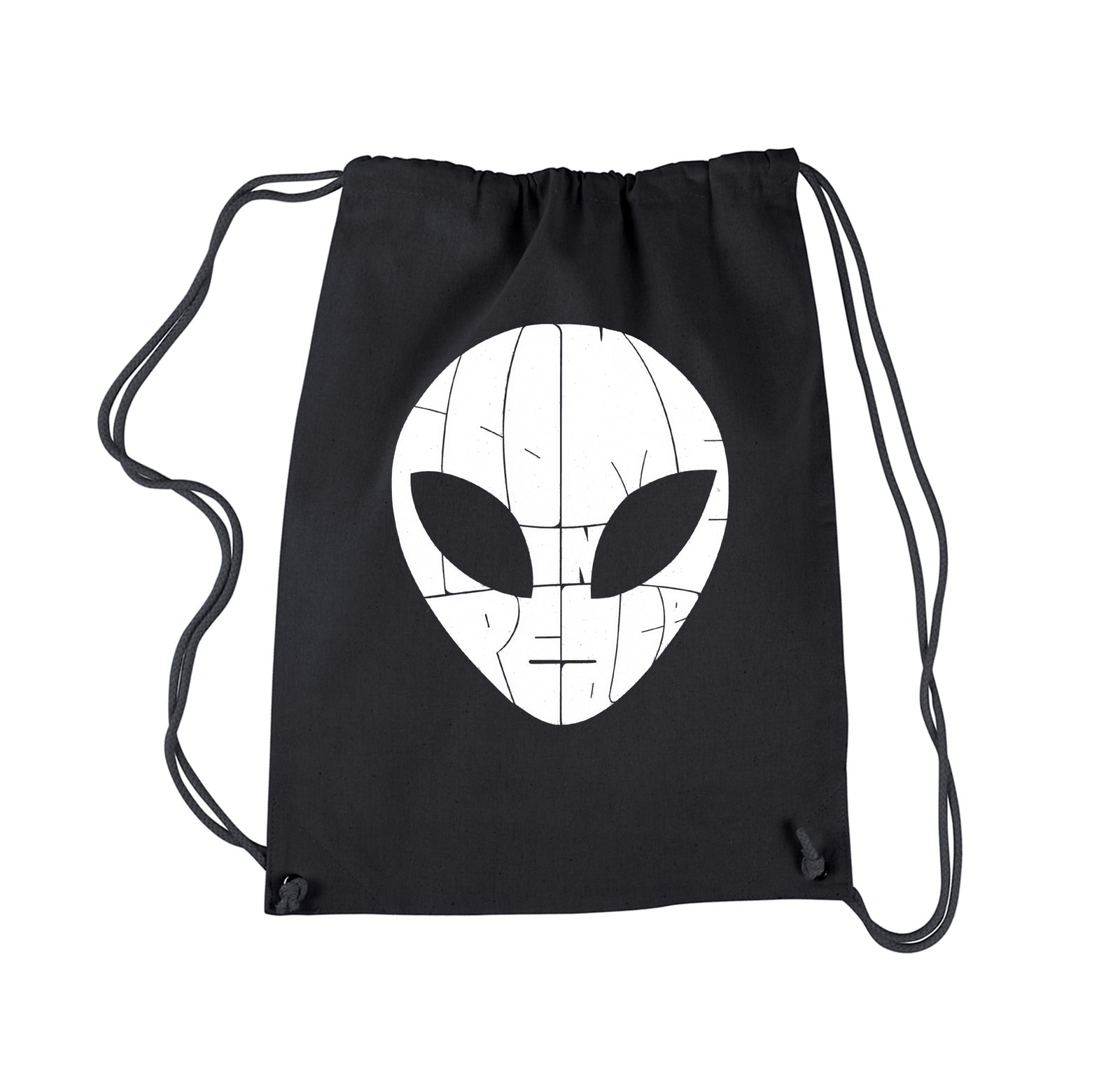 Drawstring Backpack - I COME IN PEACE