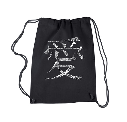 Drawstring Backpack - The Word Love in 44 Languages